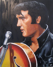 Photo: Elvis Oil Painting 2009 Blog Post: http://createsharerepeat.blogspot.com/2010/09/no-excuses.html