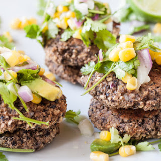 Black Bean Fritters With Sweet & Spicy Corn Salsa.