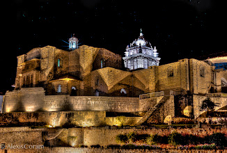 Photo: Built on History  On our first night in Cusco, we headed out for dinner and came across this little gem on our way. Of course we had all of our gear, so imagine 7 photographers unraveling tripods and making a scene in front of this historic building :)  I had a hard time pulling up the correct name for this building but I think it is the Santo Domingo Church and Convent (not to be confused with the Cathedral of Santo Domingo, also in Cusco). This site was originally home to one of the most powerful Incan Temples, known as Temple of the Sun, which had solid gold lining the walls. The temple was destroyed by the Spanish and they built this on the foundation of the ruin (the original inca stonework can be seen on the lower portions of the structure). The most impressive part is the mortarless Incan masonry that remains, even after several earthquakes...it's quite incredible.  TGLperu was lead by +Colby Brown with participation from +Vincent McMillen, +Christopher Cox, +Mike Chambers, +Joe Azure, and +Michael Bonocore>> +The Giving Lens