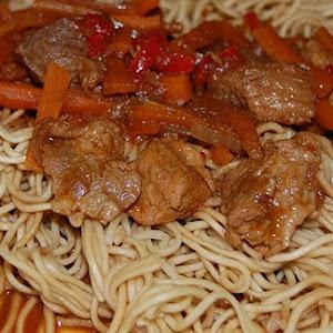 Caramelized Pork Loin and Vegetables