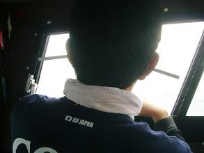 Photo: おおー! チャリTシャツ。 ありがとうございます。 タケウチさんにもご加護を!・・・ってタバコどんだけ吸うの! 耳からも! キャビン内は、禁煙なんですが・・・。