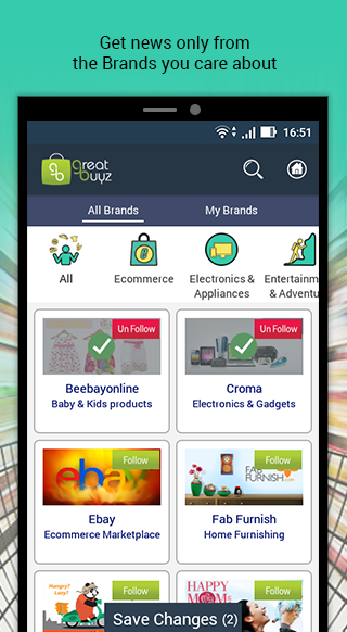 GreatBuyz - Coupons, Deals & Brand Follow App- screenshot