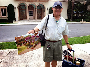 Photo: Ted Matz with his painting 12-12-13