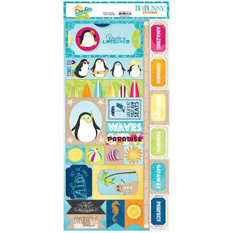 BoBunny Stickers 6X12 - Make A Splash UTGÅENDE