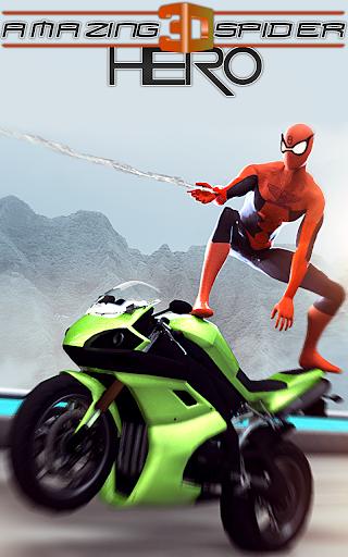 Amazing Spider 3D Hero: Moto Rider City Escape screenshot 1