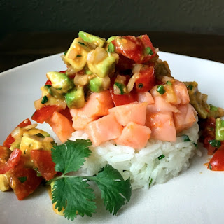 Cholula Salmon Ceviche.