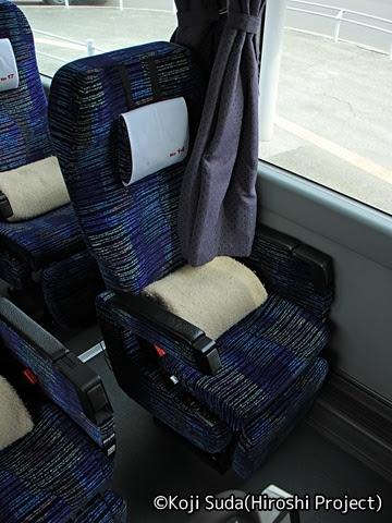 北海道中央バス「高速はこだて号」 3947 シート