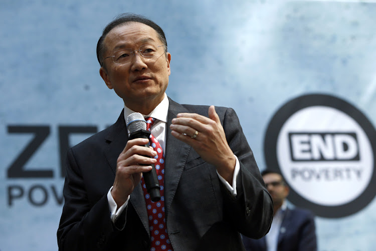 World Bank president Jim Yong Kim speaks at a programme for the EndPoverty 2030 campaign in Washington. File Picture: REUTERS