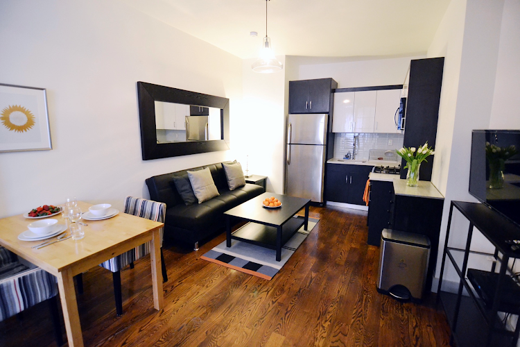 living space at Prospect Heights Apartments