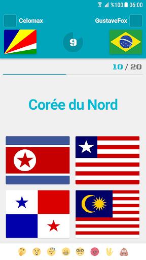 Drapeaux et Capitales du Monde Quiz  captures d'écran 3