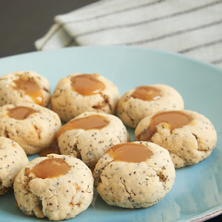 Almond Poppy Seed Thumbprint Cookies