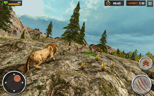 The Lion Simulator - Wildlife Animal Hunting Game modavailable screenshots 3