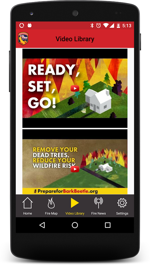 CAL FIRE Ready for Wildfire- screenshot