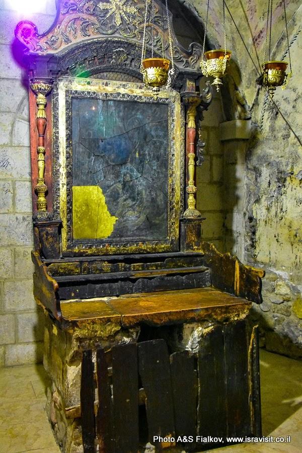 Храм Гроба Господня. Сирийский придел Иосифа Аримофейского и Никодимуса. Сгоревший алтарь.