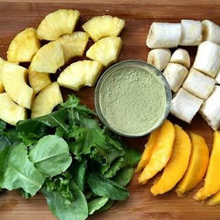 Banana Pineapple Mango Pro Matcha Protein Smoothie