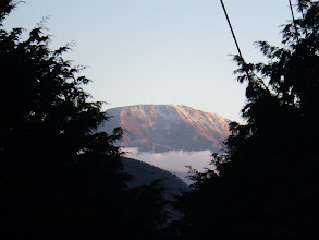 冠雪した伊吹山を望む