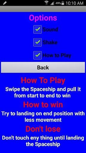 Swipe Spaceship 1.0 screenshots 10