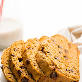 Greek Yogurt Pumpkin Chocolate Chip Pound Cake.