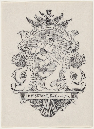 Bookplate for H. W. Bryant of Portland Maine