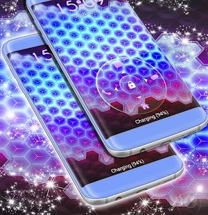 3d Neon zámek obrazovky - náhled