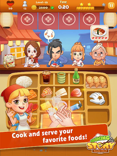 Sushi Master - Cooking story  captures d'u00e9cran 9