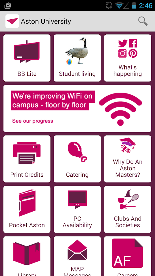 Aston University Student App- screenshot