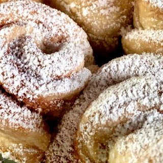 Puff Pastry Almond Snowflakes.