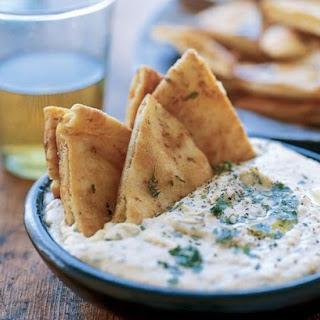 White Bean Dip with Pita Chips.