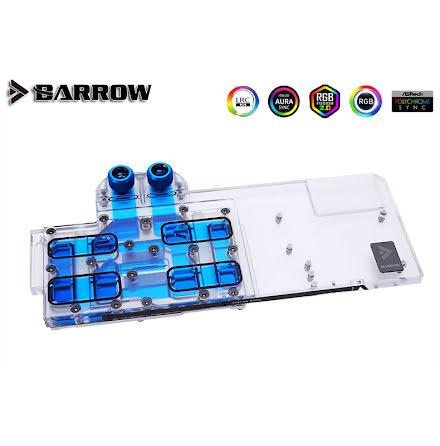 Barrow vannblokk for skjermkort Gigabyte RTX™ 3080/3090 Gaming/Eagle/Vision - Nickel+Plexi