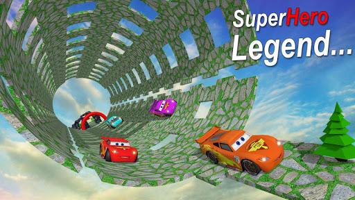 Hill Climb Racing Legend: Superhero Lightning Car