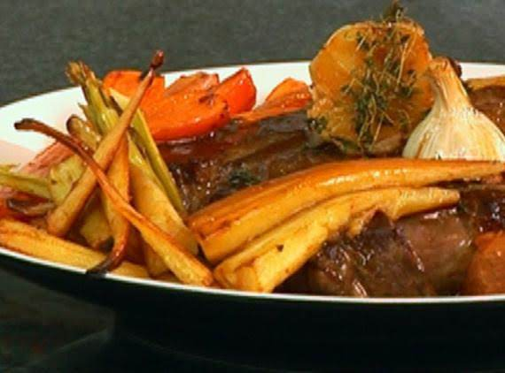 Fireman Bob's Rib Eye Beef Roast With Roasted..... Recipe