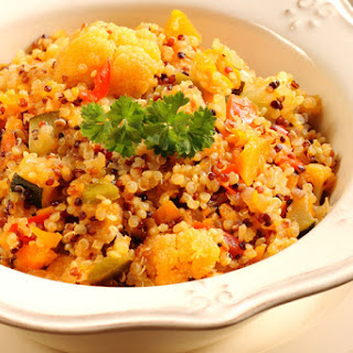 Turmeric Roasted Cauliflower with Quinoa.