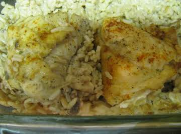 Baked Chicken and Rice Dinner