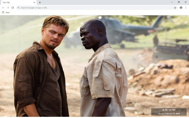 Blood Diamond New Tab & Wallpapers Collection