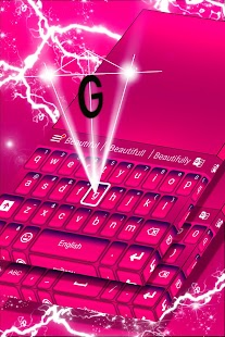 Keyboard Color Pink Theme - náhled