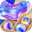 Galaxy Slime Ball NonSticky & Squishy Fluffy Slime icon