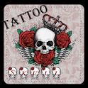 Skull Tattoo Keyboard Theme icon