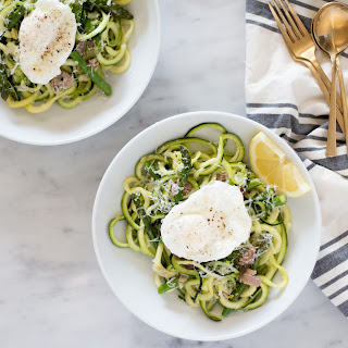 Zoodles With Asparagus And Prosciutto.