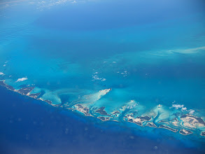 Photo: From the plane, over the Bahamas