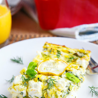 Zucchini and Feta Breakfast Casserole.