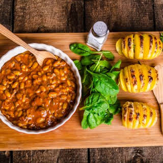 Tangy-Sweet Pineapple Bacon Baked Beans.
