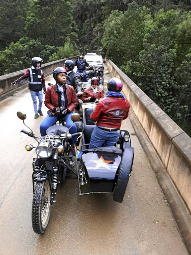 Bikers on the Knysna Meander.