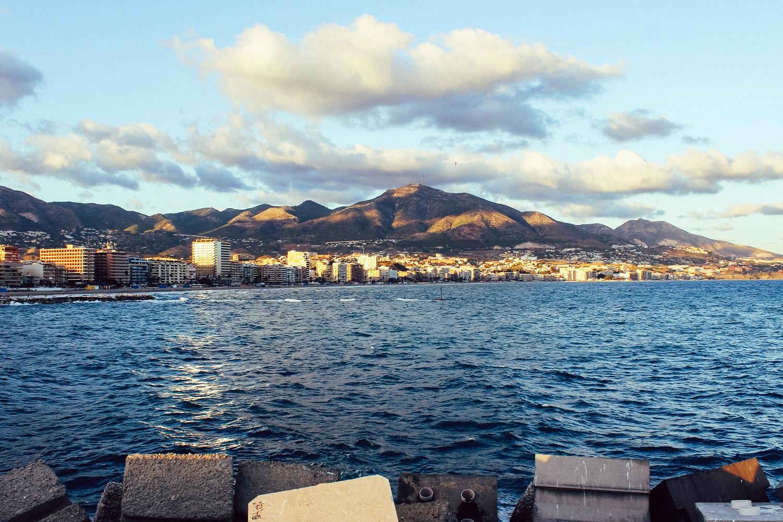 Atardecer de Fuengirola desde el dique