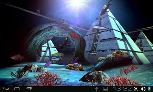 Atlantis 3D Pro Live Wallpaper Screenshot