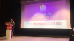 Antonia S. Villanueva, subdirectora de LA VOZ, en la apertura de los VI Premios Nacimiento.