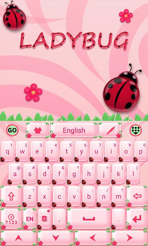 Cute-Ladybug-GO-Keyboard-Theme 7