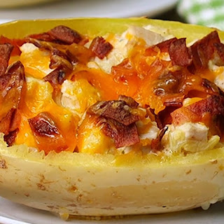 Chicken Bacon Ranch Spaghetti Squash Will Become Your New Favorite Meal!.