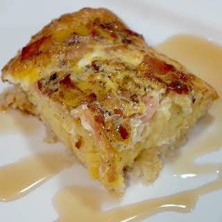 Maple Pancake Breakfast Casserole.