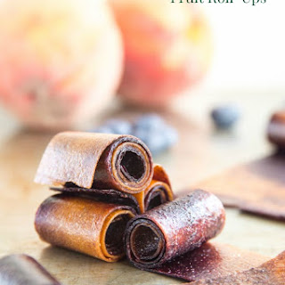 Blueberry Peach Fruit Roll-Ups