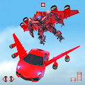 Flying Car- Super Robot Transformation Simulator icon